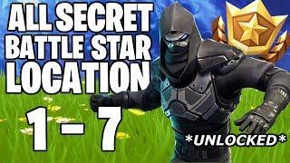 ALL HIDDEN FORTNITE BATTLE STAR LOCATIONS! FREE TIERS! SEASON 5 WEEK 1 - 7