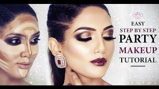 Easy Party Makeup Tutorial   Step By Step Makeup Tutorial For Beginners   Chandni Singh