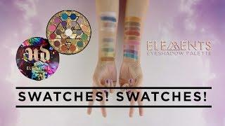 SWATCHES! Elements Eyeshadow Palette | New From Urban Decay