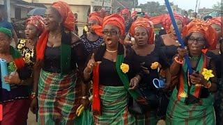 BIAFRA: IPOB WOMEN PROTEST ARMY BARR@CK TODAY