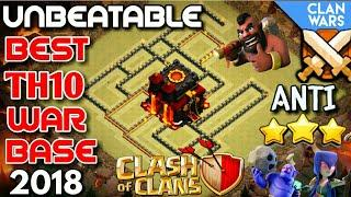 BEST TH 10 WAR BASE 2018 | ANTI EVERYTHING | ANTI SIEGE MACHINE | ANTI QUEENWALK | CLASH OF CLANS